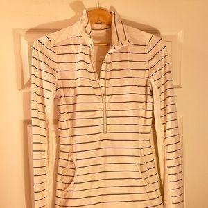 Lululemon Define Jacket in Cream Stripe - 8/10